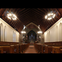 Scarsdale (NY), St. James the Less Episcopal Church, Gesamter Innenraum in Richtung Chor