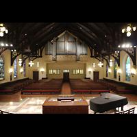 Germantown (PA), First Presbyterian Church, Innenraum in Richtung Gallery Organ