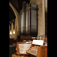 Germantown (PA), First Presbyterian Church, Spieltisch und linker Teil der Chancel Organ