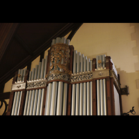 Germantown (PA), First Presbyterian Church, Prospektdetail und Verzierung an der Chancel organ
