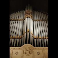 Germantown (PA), First Presbyterian Church, Prospektdetail und Verzierung an der Gallery Organ