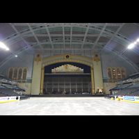 Atlantic City (NJ), Boardwalk Hall (''Convention Hall''), Innenraum mit Left und Right Stage Pfeifenkammern