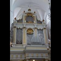 Malmö, S:t Petri Kyrka, Orgelempore mit Hauptorgel