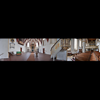Rötha, St. Georgen, Innenraum-Panorama