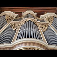 Rötha, St. Georgen, Orgelprospekt perspektivisch