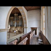 Rötha, St. Georgen, Orgel von der Seitenempore aus gesehen