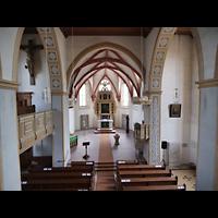 Rötha, St. Georgen, Blick von der Orgelempore in die Kirche