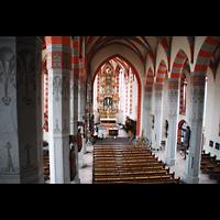 Ochsenfurt, St. Andreas, Blick von der Orgelempore ins Hauptschiff