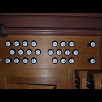Ochsenfurt, St. Andreas, Rechte Registerstaffel am Spieltisch