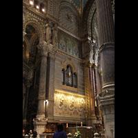 Lyon, Notre-Dame de Fourvière, Orgel-Teilwerk im linken Chorraum