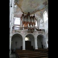 Arlesheim, ehem. Dom, Kirchenrückwand mit Orgelempore