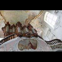 Arlesheim, ehem. Dom, Orgel von unten gesehen