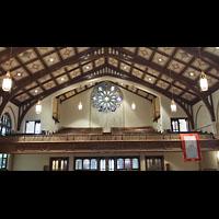 Hanover (PA), St. Matthew's Lutheran Church, Orgelempore mit Antiphonal-Orgeö