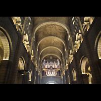 Monaco-Ville, Cathédrale de l'Immaculée-Conception, Hauptschiff in Richtung Orgel