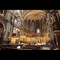 Montserrat, Basílica, Chorraum mit Orgel