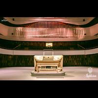 Moskva (Moskau), RUS_Moskau_ZaryadyeParkConcertHall, Orgel mit mechanischem und mobilem Spieltisch