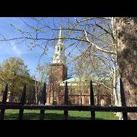 Philadelphia (PA), Christ Church, Außenansicht mit Turm
