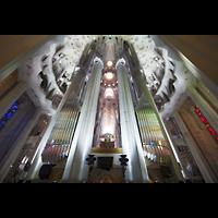 Barcelona, La Sagrada Familia (Chororgel), Rückwärtige Ansicht der Chororgel