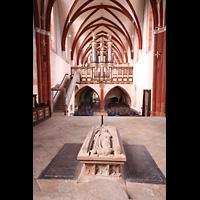 Solms-Oberbiel b. Wetzlar, ehem. Klosterkirche St. Maria und Michael Altenberg, Innenraum in Richtung Orgel