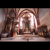 Solms-Oberbiel b. Wetzlar, ehem. Klosterkirche St. Maria und Michael Altenberg, Innenraum in Richtung Chor