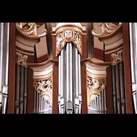 Solms-Oberbiel b. Wetzlar, ehem. Klosterkirche St. Maria und Michael Altenberg, Orgelprospekt-Detail