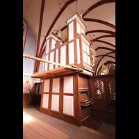 Solms-Oberbiel b. Wetzlar, ehem. Klosterkirche St. Maria und Michael Altenberg, Rückseite der Orgel mit seitlichem Spieltisch