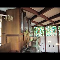 Berlin - Zehlendorf, Amerikanische Kirche, Orgelempore seitlich