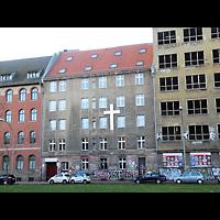 Berlin - Friedrichshain, Andreas-Haus am Ostbahnhof, Außenansicht