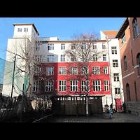 Berlin - Friedrichshain, Andreas-Haus am Ostbahnhof, Außenansicht, Hofseite