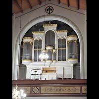 Berlin - Mitte, Annenkirche (SELK) - Kleine Orgel im Gemeindesaal, Hauptorgel