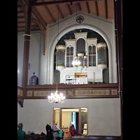 Berlin - Mitte, Annenkirche (SELK) - Kleine Orgel im Gemeindesaal, Orgelempore
