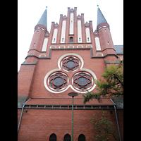 Berlin - Köpenick, Christophoruskirche Friedrichshagen, Außenansicht Chorseite