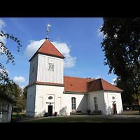 Berlin - Spandau, Dorfkirche Alt-Staaken, Außenansicht der Kirche