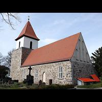 Berlin - Pankow, Dorfkirche Blankenburg, Außenansicht der Kirche