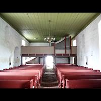 Berlin - Pankow, Dorfkirche Blankenburg, Innenraum in Richtung Orgel