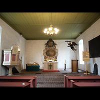 Berlin - Pankow, Dorfkirche Blankenburg, Innenraum in Richtung Altar