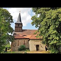 Berlin - Pankow, Dorfkirche Blankenfelde, Außenansicht der Kirche
