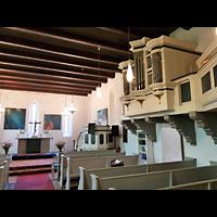 Berlin - Pankow, Dorfkirche Blankenfelde, Innenraum mit seitlicher Orgelempore