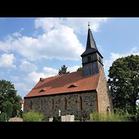 Berlin - Pankow, Dorfkirche Blankenfelde, Außenansicht mit Turm