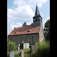 Berlin - Pankow, Dorfkirche Blankenfelde, Außenansicht, Friedhofseite