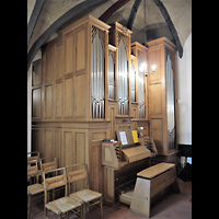 Berlin - Neukölln, Dorfkirche Buckow, Orgel Seitlich