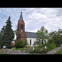 Berlin - Hellersdorf, Dorfkirche Kaulsdorf (Jesus-Kirche), Außenansicht der Kirche