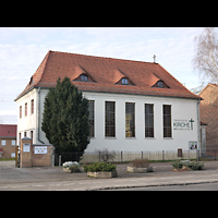 Berlin - Lichtenberg, Dorfkirche Malchow, Außenansicht der Kirche