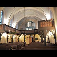 Berlin - Marzahn, Dorfkirche, Innenraum in Richtung Orgel