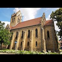 Berlin - Marzahn, Dorfkirche, Außenansicht der Kirche