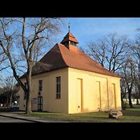 Berlin - Köpenick, Dorfkirche Müggelheim (Hauptorgel), Außenansicht der Kirche