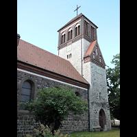 Berlin - Pankow, Dorfkirche Rosenthal, Außenansicht der Kirche