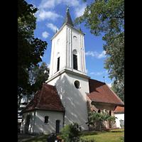 Berlin - Friedrichshain, Dorfkirche Stralau, Außenansicht mit Turm