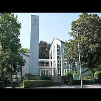 Berlin - Zehlendorf, Evangelisch-Freikirchliche Gemeinde (Baptisten), Kirche am Immanuel-Krankenhaus (Wannsee), Außenansicht der Kirche