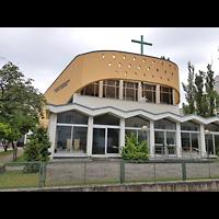 Berlin - Tempelhof, Evangelisch-Freikirchliche Gemeinde (Baptisten), Außenansicht der Kirche